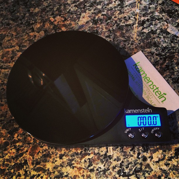 NERD ALERT | I love my food scale:.