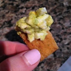 low FODMAP avocado egg salad.